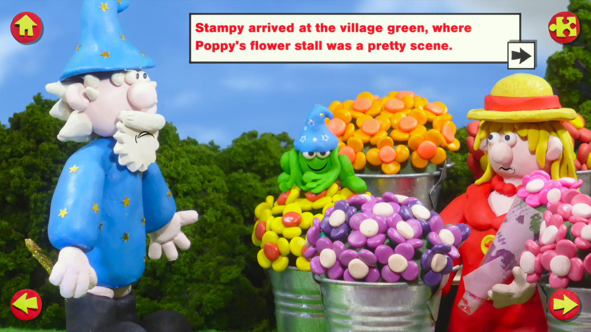 Stampy the Wizard - Screenshot: Florist Page